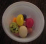 Jelly beans accompany the Ronald Reagan