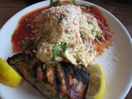 Cilantro Salmon with Tomato Habanero Lasagna