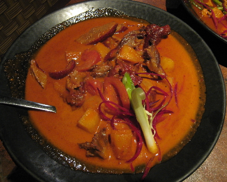 Slow roasted duck curry