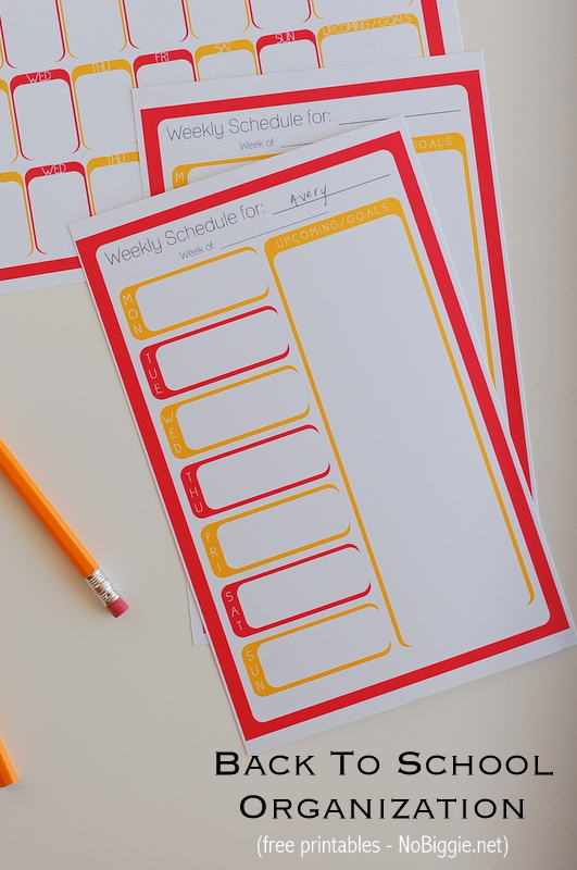 Back to School weekly planners (free printables) - college planner organization