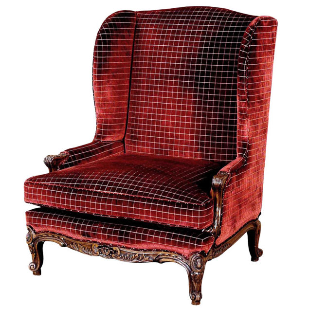 French Red Wing Chair