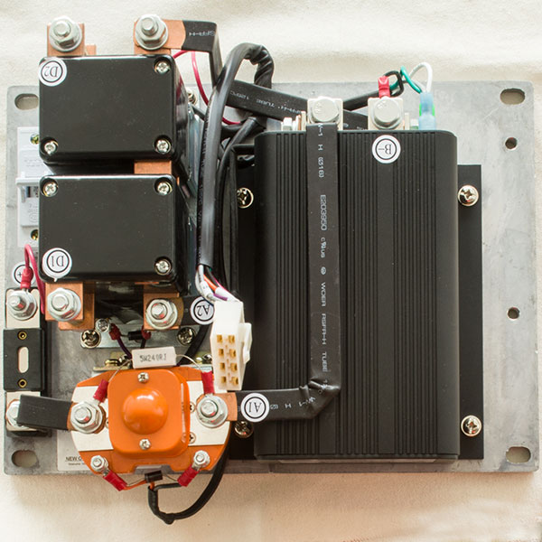 DC Series Motor Controller Assemblage, CURTIS 1204M-5203, 36V / 48V