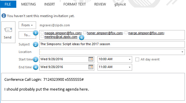Setting Up Conference Call Using Outlook Calendar - No Cost