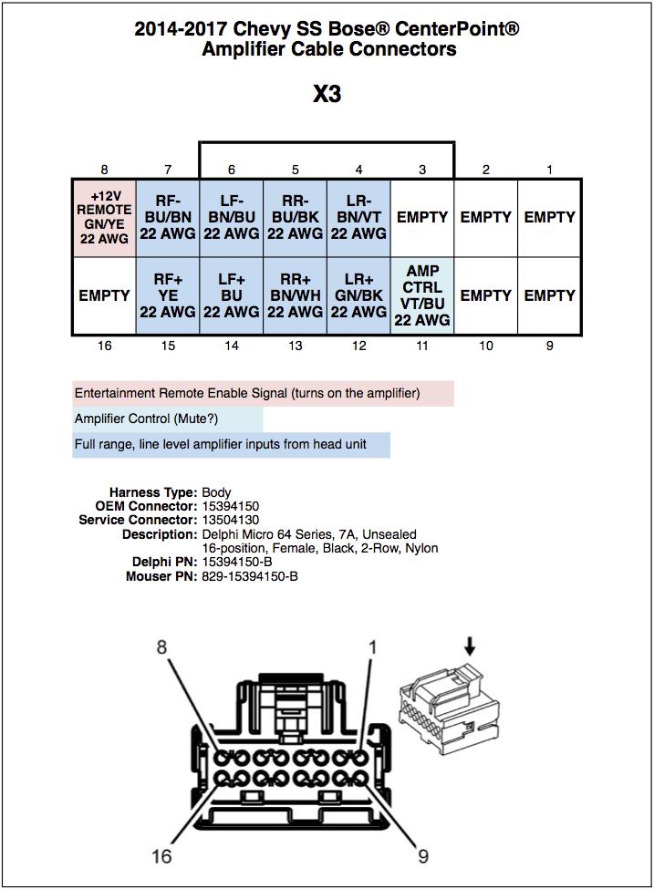 bose amp wiring diagram chevy