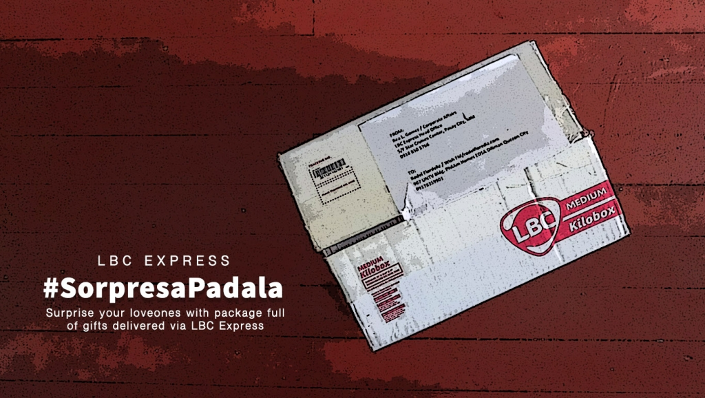 A Box Full of surprise gifts from LBC Express #SorpresaPadala