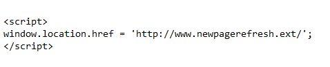 Codice JS per Refresh pagina