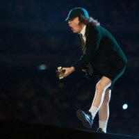 Angus Young of AC/DC. photo by Ros O'Gorman, Noise11, photo