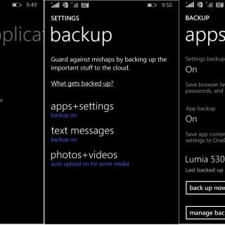 Windows Phone backup 1