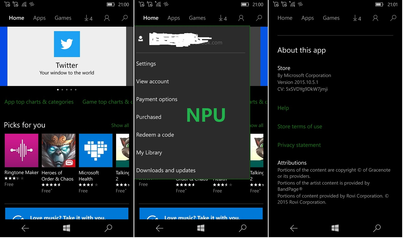 updated windows 10 mobile store 39 s new hamburger free ui revealed nokiapoweruser. Black Bedroom Furniture Sets. Home Design Ideas