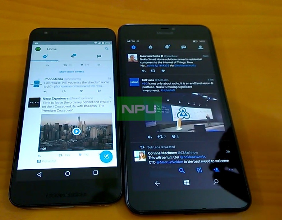 Android n vs windows 10 mobile redstone performance browsing