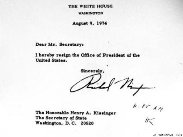 Beautiful Awesome Richard Nixon Resignation Letter Download Resign ...
