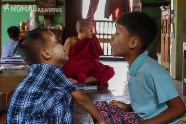 Children talking people of Myanmar