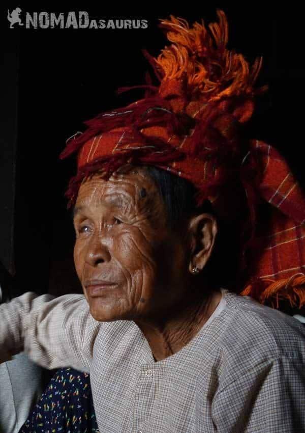 Shan lady people of Myanmar