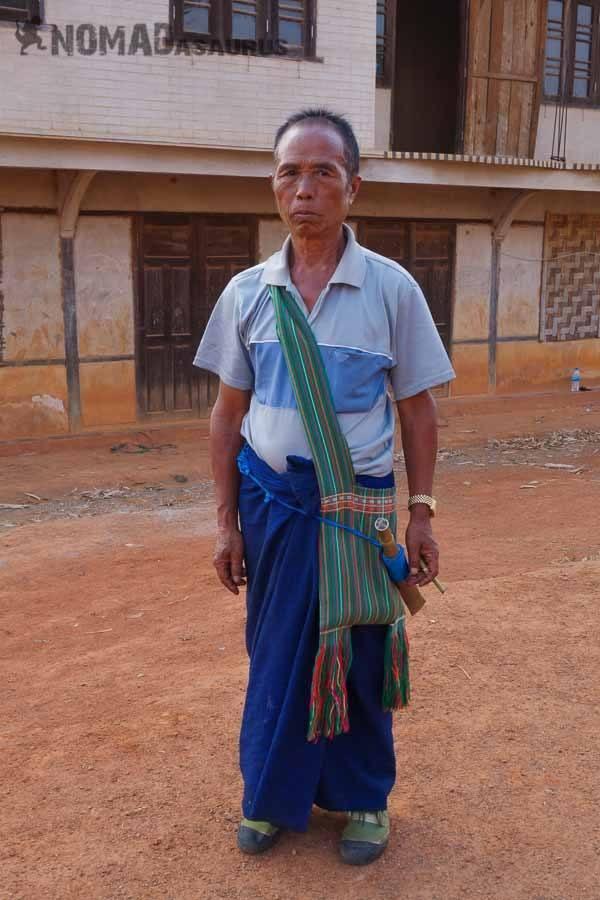 Standing man people of Myanmar