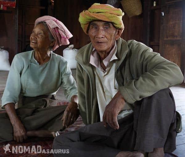 Nice couple people of Myanmar