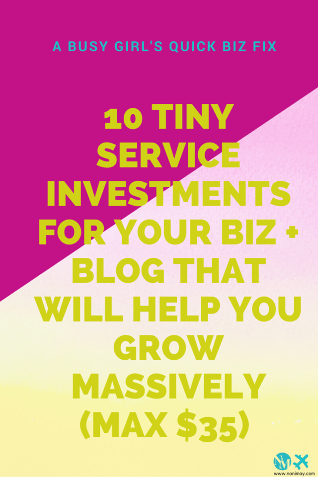 10 Tiny service investments for your biz + blog that will help you grow massively (max $35) | A busy girl's quick biz fix