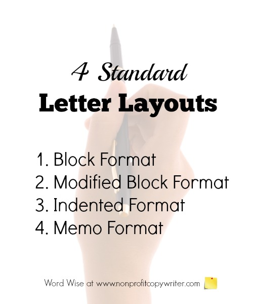 Basic Letter Writing Format Four Standard Layouts - letter writing format