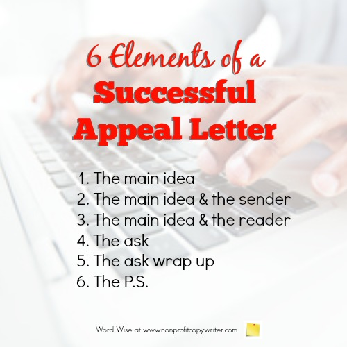 6 Elements in a Successful Appeal Letter Writing Format - writing an appeal letter