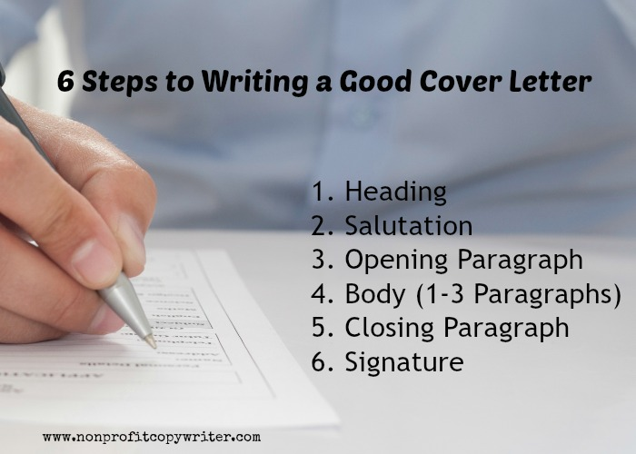 steps in writing a cover letter