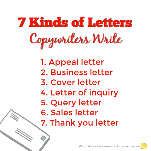 Kinds of Letters Copywriters Write A Glossary