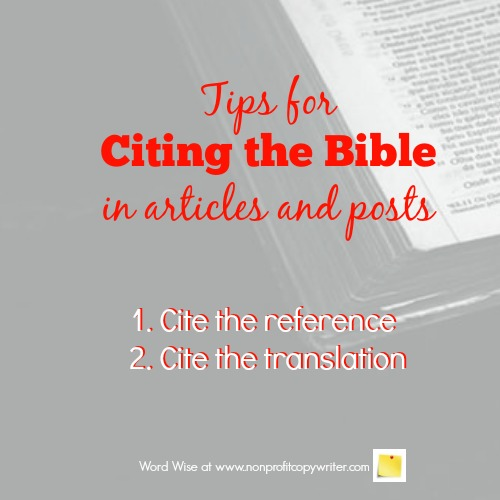 Tips for Citing the Bible in Devotionals, Blogs, Articles