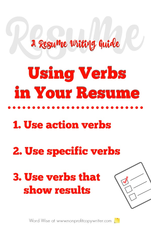 A Resume Writing Guide to Using Verbs How-Tos for Words That Show - resume verbs