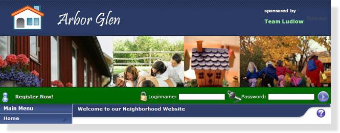 Neighborhood website template designs and colors - neighborhood website templates