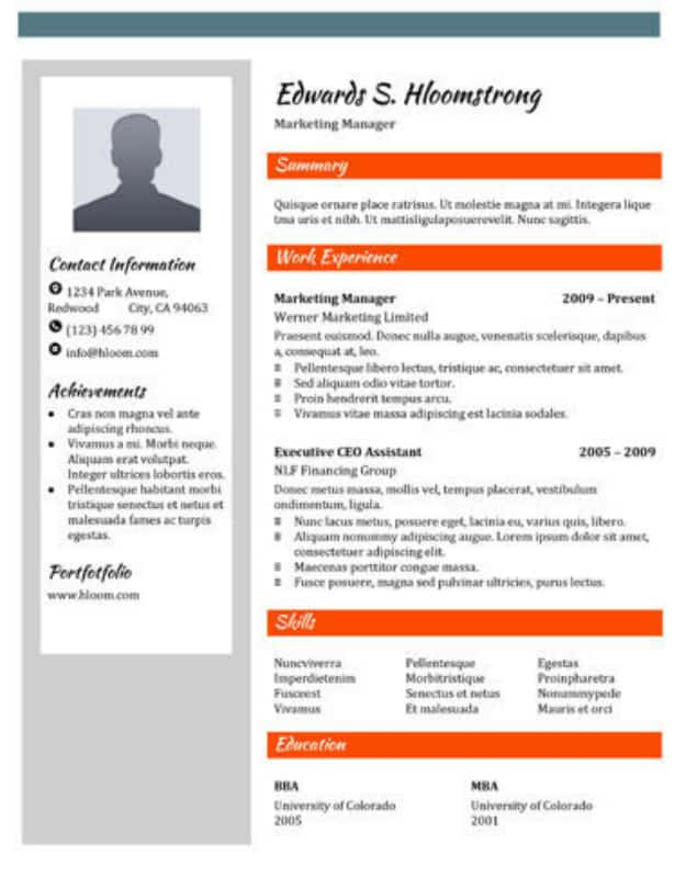 29 Google Docs Resume Template To Ace Your Next Interview - resume template doc