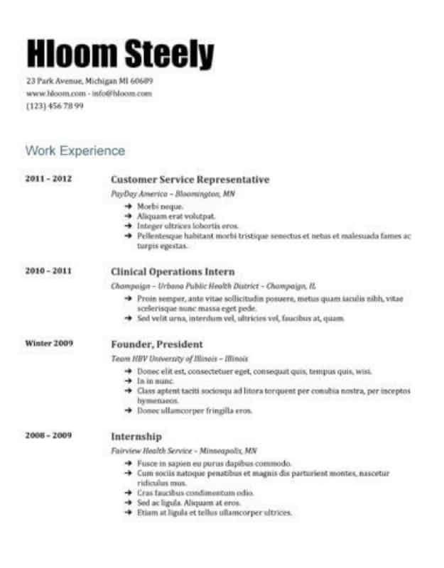 29 Google Docs Resume Template To Ace Your Next Interview - american resume template