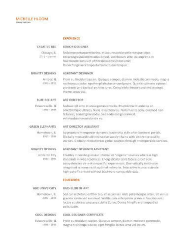 29 Google Docs Resume Template To Ace Your Next Interview - Google Docs Resume Templates
