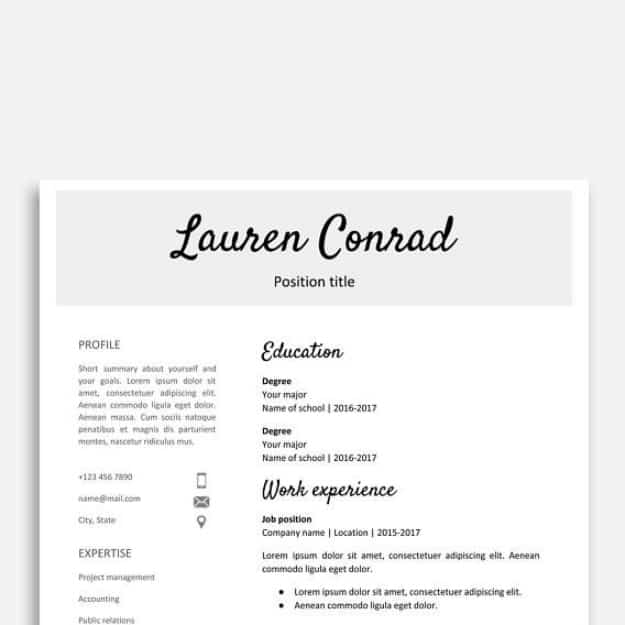 professional cv template google docs