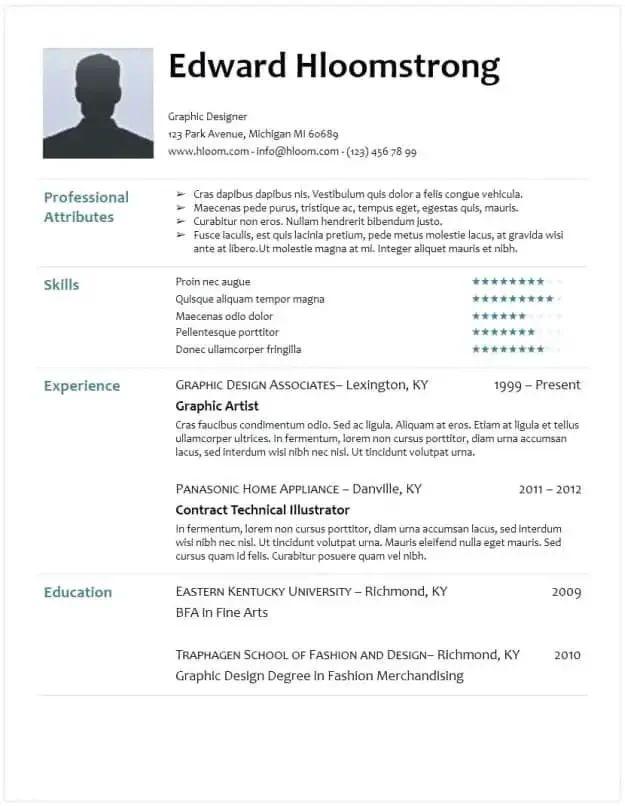 google docs four resume templates