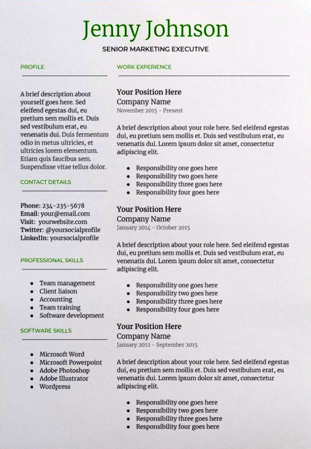29 Google Docs Resume Template To Ace Your Next Interview - Resume Te