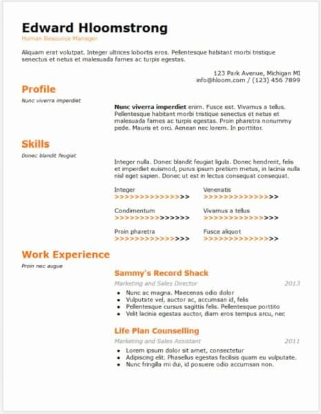 example of a filled out google doc resume Awesome 15 Elegant Resume