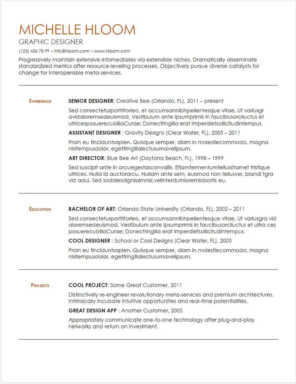 creative resume templates google docs