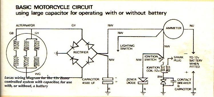 Lucas Motorcycle Wiring Diagram Vintage lucas motorcycle wiring