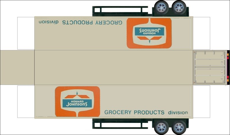 paper modelvolvo trucks Bouwplaat van een Amerikaanse 2-assige - shipping manual template