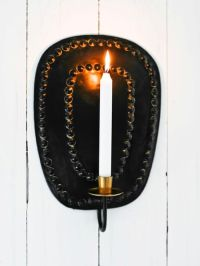 Black Wall Candle Sconce