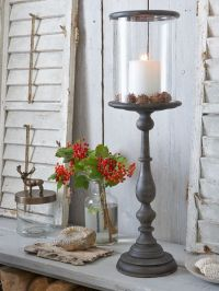 Danish Wooden Hurricane Lamp L