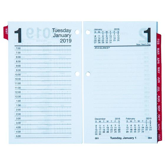 At-A-Glance E717T-50 2019 Daily Calendar Refill With Monthly Tabs, 3