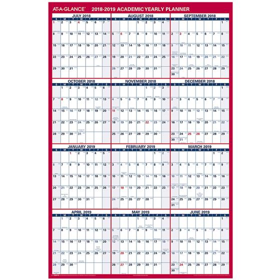 At-A-Glance PM36AP-28 2018-2019 Academic Yearly Planner, Dry Erase