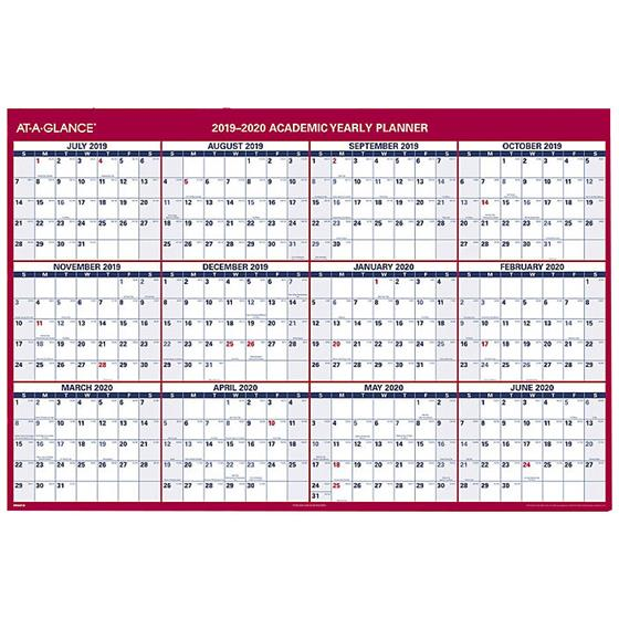 At-A-Glance PM36AP-28 2019-2020 Academic Yearly Planner, Dry Erase