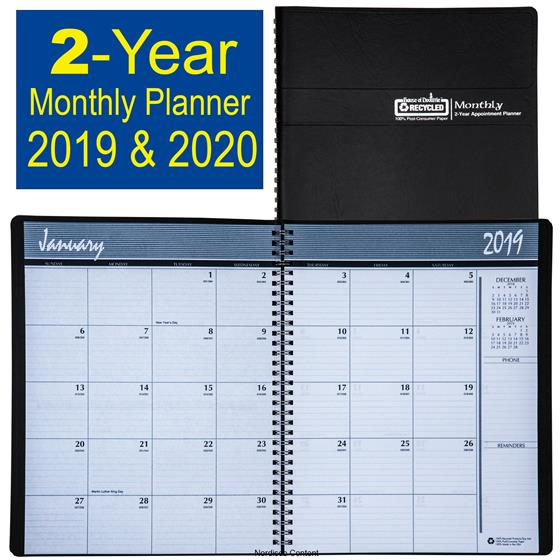 HOD262002 House of Doolittle 2019  2020 2-Year Monthly Appointment
