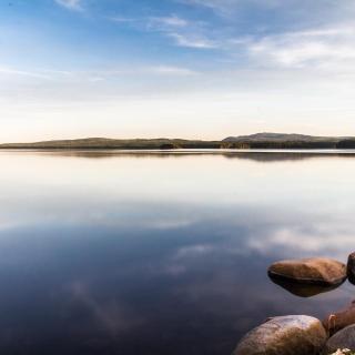 Abendstimmung am Siljan-See
