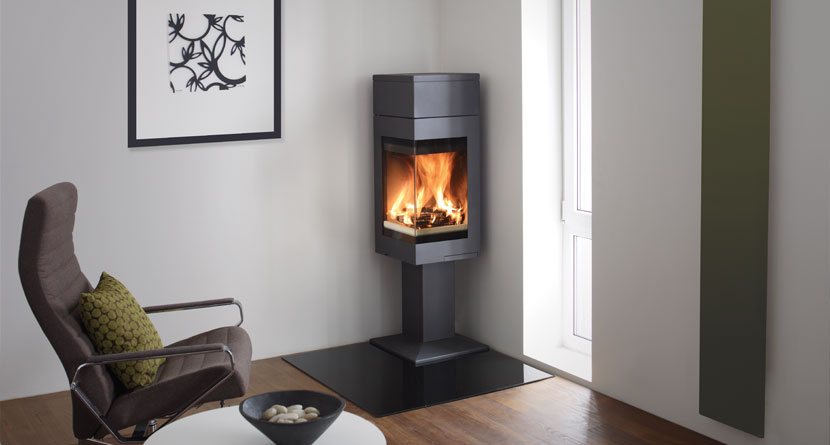 Quadro 1 Corner Wood Burning Stoves Nordpeis Stoves Uk