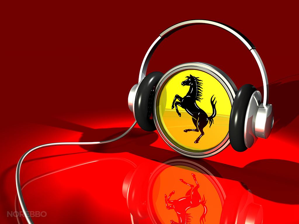 Illuistrated Car Wallpaper 3d Illustrations With Ferrari Logos Norebbo