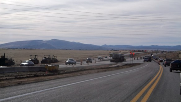 Fines are doubled for speeding in a construction zone.