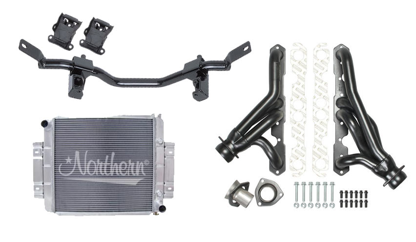 V8 Conversion Kit 72-86 Jeep CJ with SB Chevy and Manual