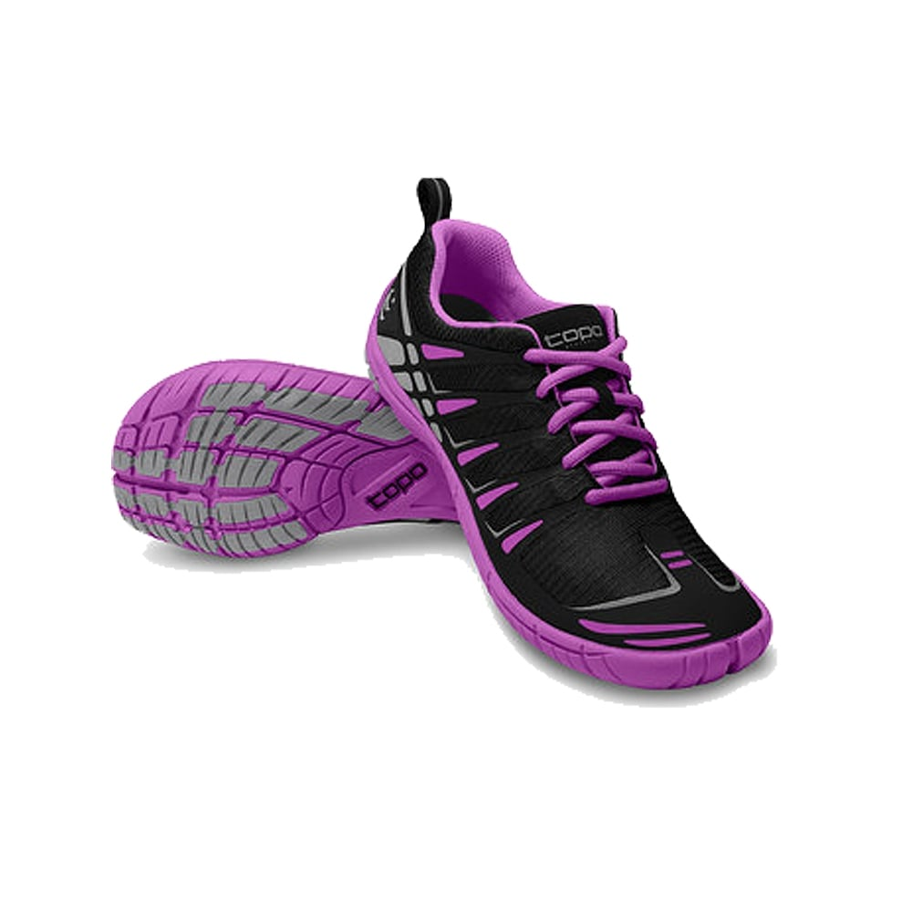 St Womens Low Drop Wide Toe Box Road Running Shoes Black