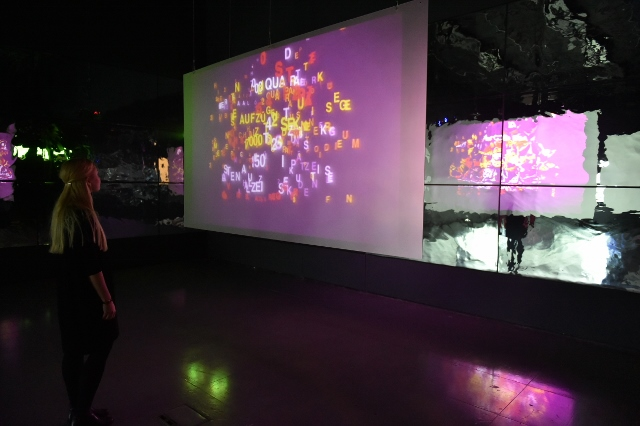 Type Motion exhibition, 2014, Installation at FACT Liverpool, Gallery 1
